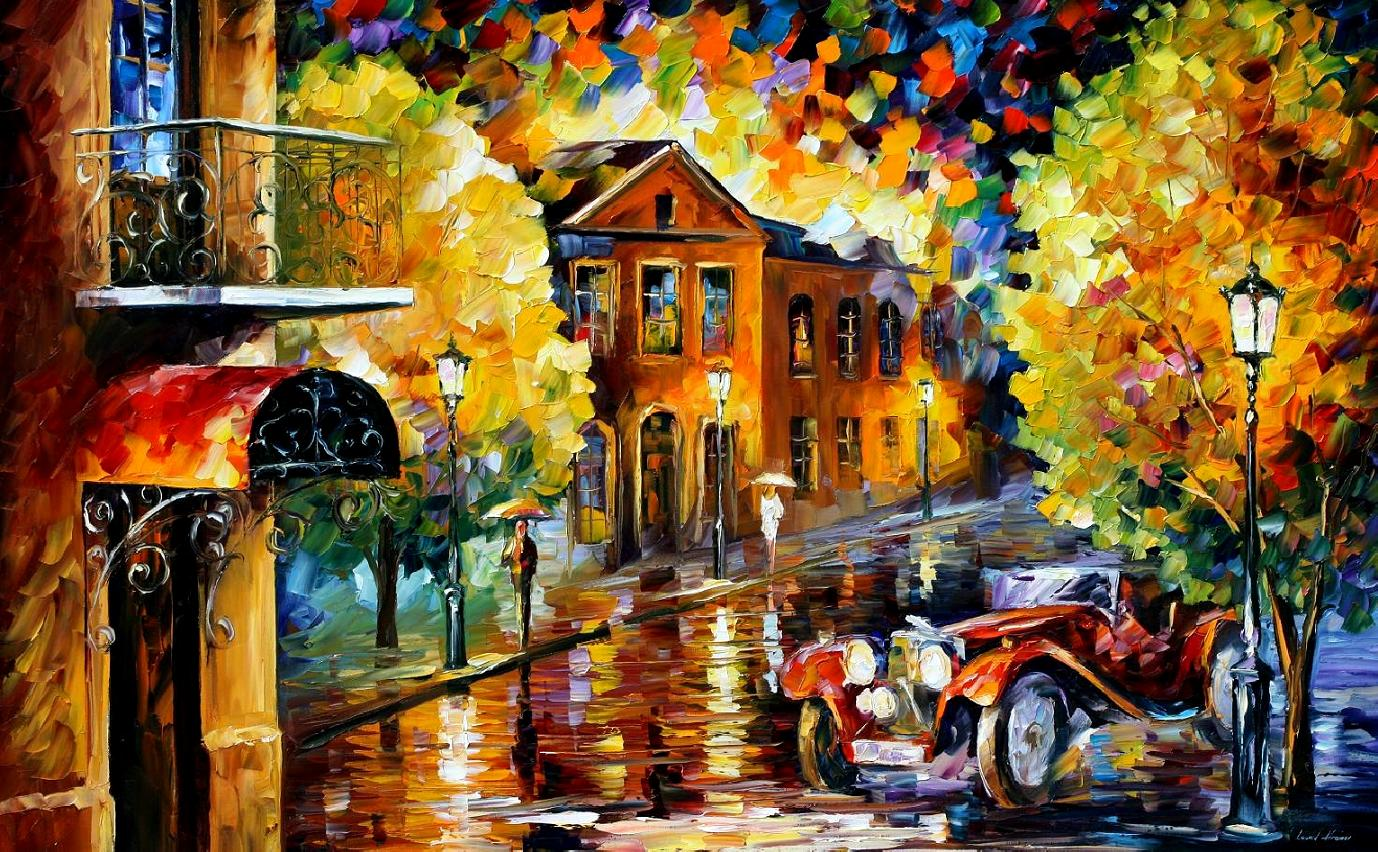Modern impressionism palette knife oil painting kp15036