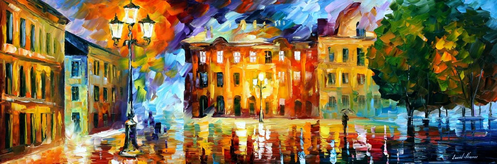 Modern impressionism palette knife oil painting kp15054