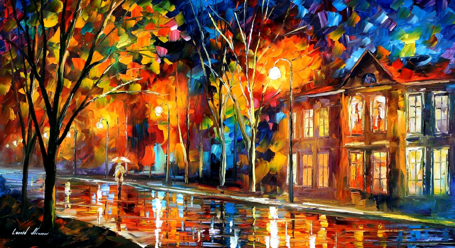 Modern impressionism palette knife oil painting kp15165