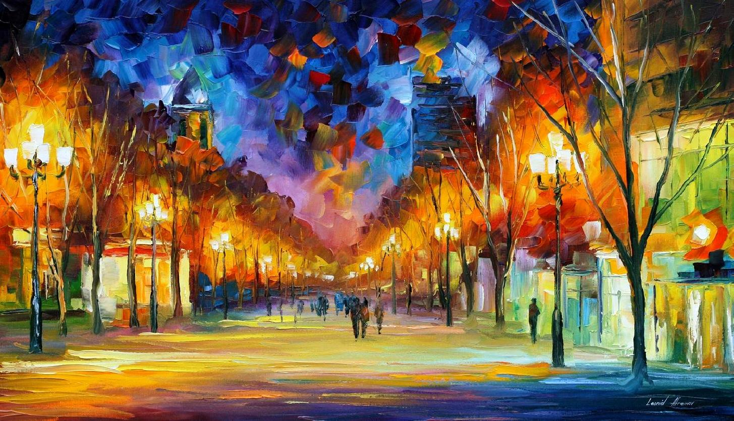 Modern impressionism palette knife oil painting kp15169