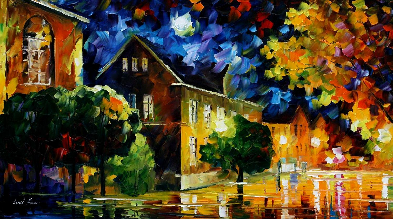 Modern impressionism palette knife oil painting kp15170