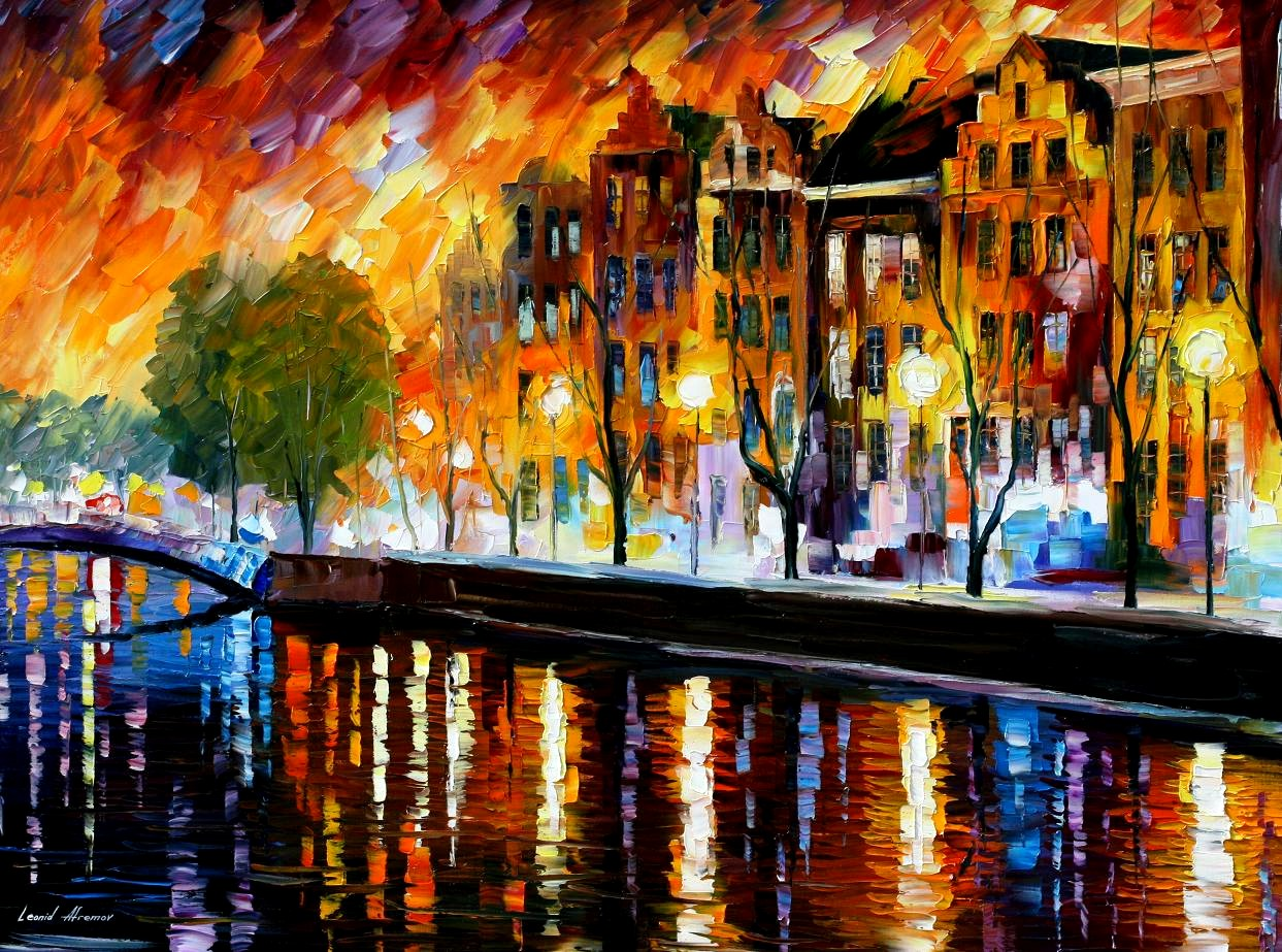 Modern impressionism palette knife oil painting kp15194