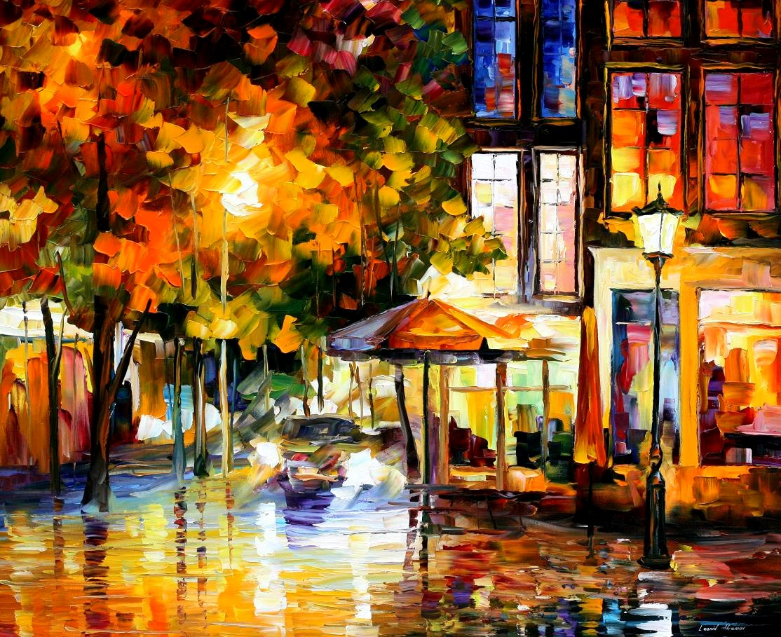 Modern impressionism palette knife oil painting kp15203