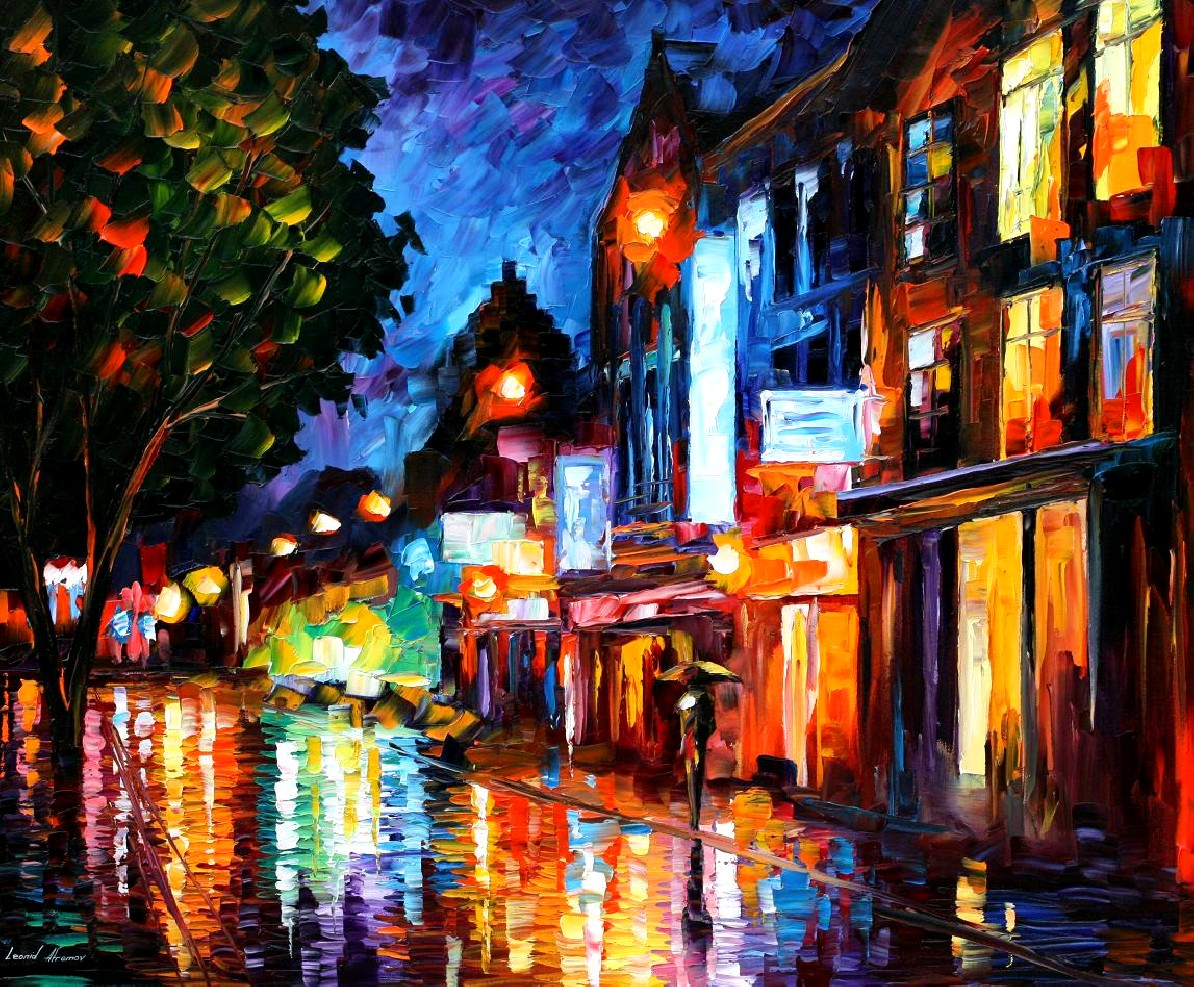 Modern impressionism palette knife oil painting kp15208
