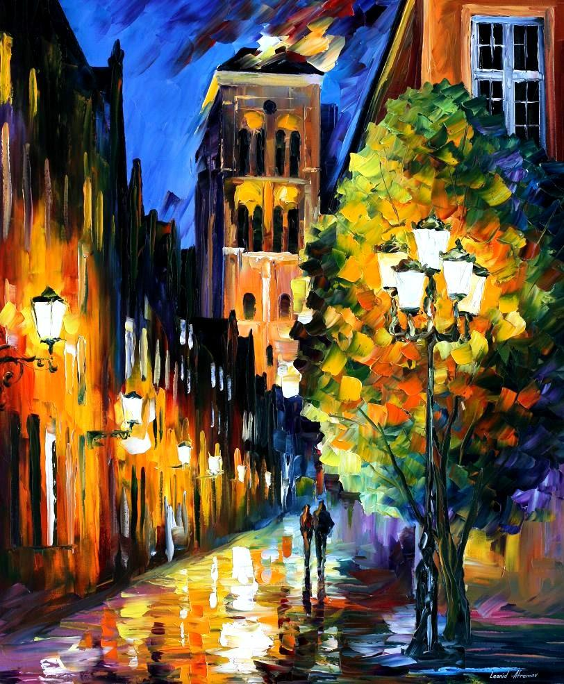 Modern impressionism palette knife oil painting kp15212