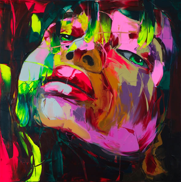 Francoise Nielly Palette Impression Portrait Painting Face002