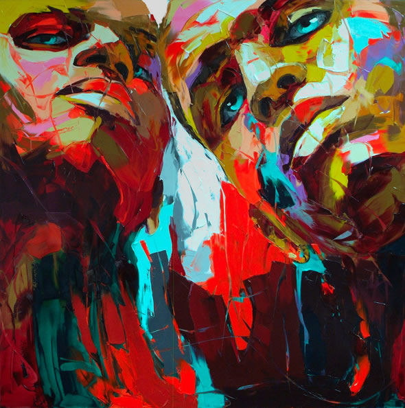 Francoise Nielly Palette Impression Portrait Painting Face003