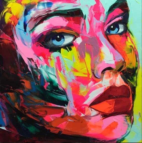 Francoise Nielly Palette Impression Portrait Painting Face004