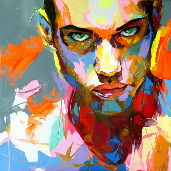 Francoise Nielly Palette Impression Portrait Painting Face006