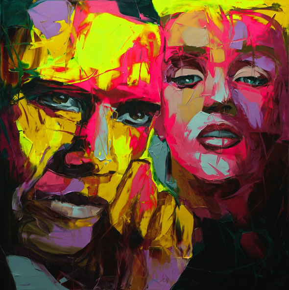 Francoise Nielly Palette Impression Portrait Painting Face007