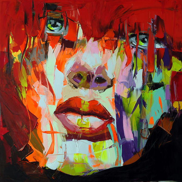 Francoise Nielly Palette Impression Portrait Painting Face010