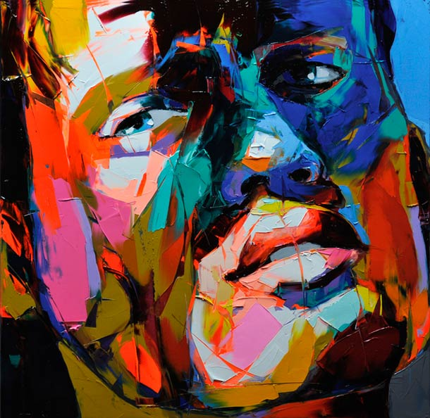 Francoise Nielly Palette Impression Portrait Painting Face055
