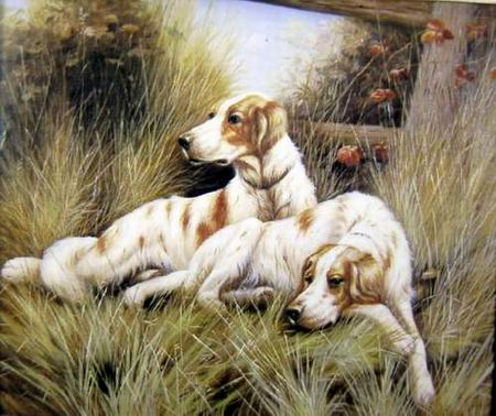 Dafen Oil Painting on canvas -dog006
