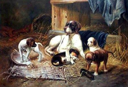 Dafen Oil Painting on canvas -dog007