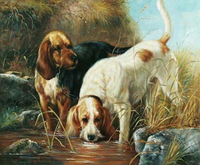 Dafen Oil Painting on canvas -dog008