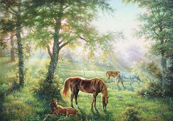 Dafen Oil Painting on canvas -horse020