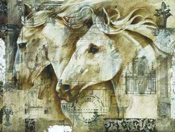 Dafen Oil Painting on canvas -horse049