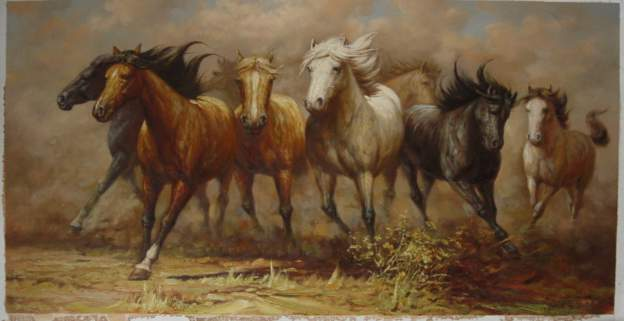 Dafen Oil Painting on canvas -horse051