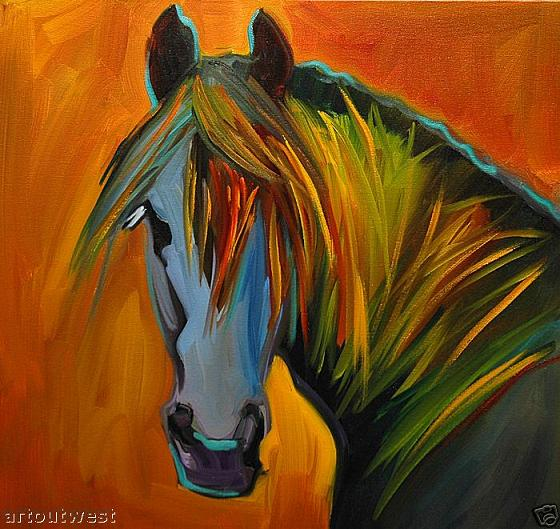 Dafen Oil Painting on canvas -horse053