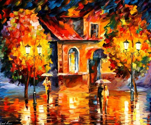Modern impressionism palette knife oil painting kp004