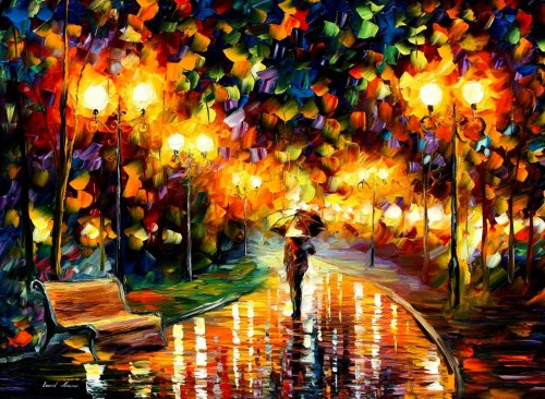 Modern impressionism palette knife oil painting kp005