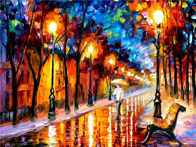 Modern impressionism palette knife oil painting kp008