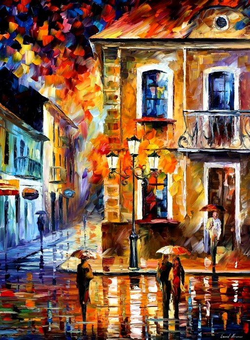Modern impressionism palette knife oil painting kp010
