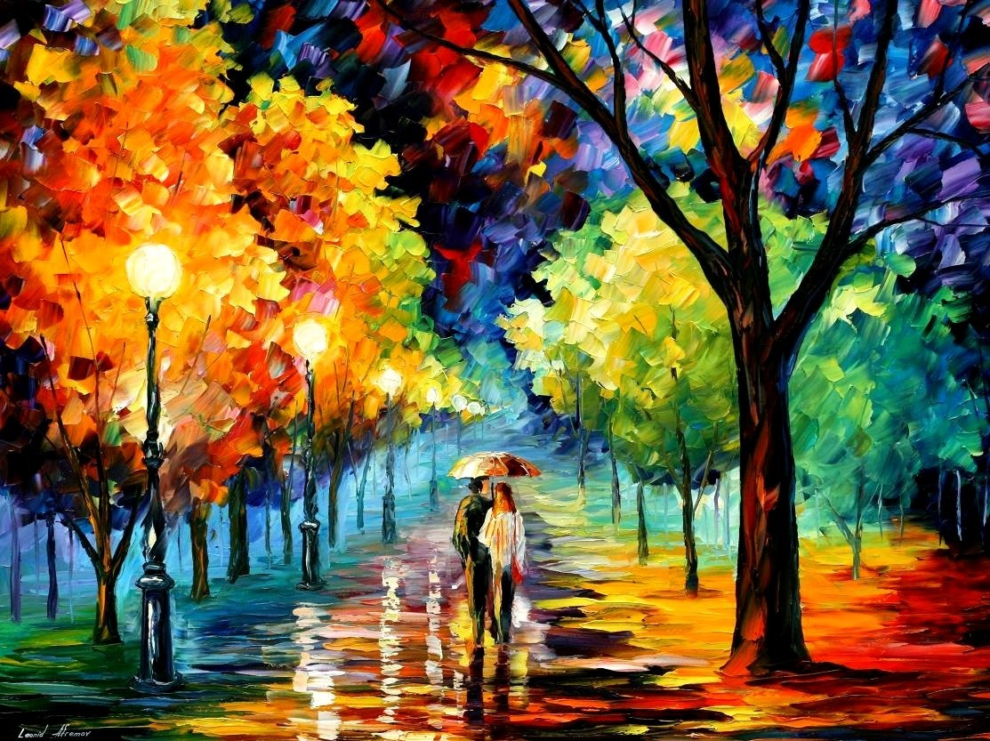 Modern impressionism palette knife oil painting kp145