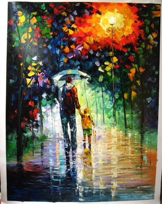 Modern impressionism palette knife oil painting kp201