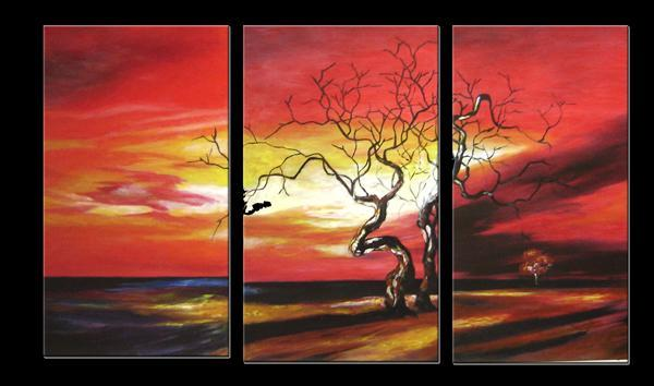Dafen Oil Painting on canvas tree -set010