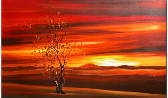 Dafen Oil Painting on canvas sunglow -set015