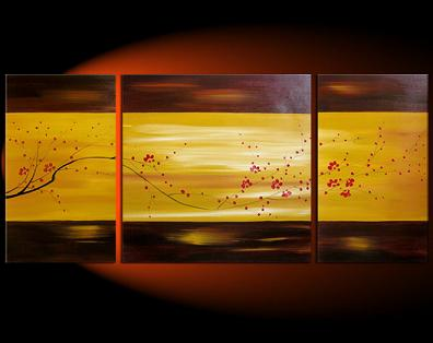 Dafen Oil Painting on canvas leaves -set022