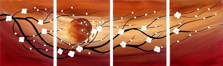 Dafen Oil Painting on canvas flower -set096