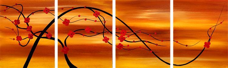 Dafen Oil Painting on canvas flower -set098