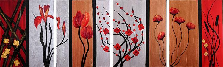 Dafen Oil Painting on canvas flower -set099