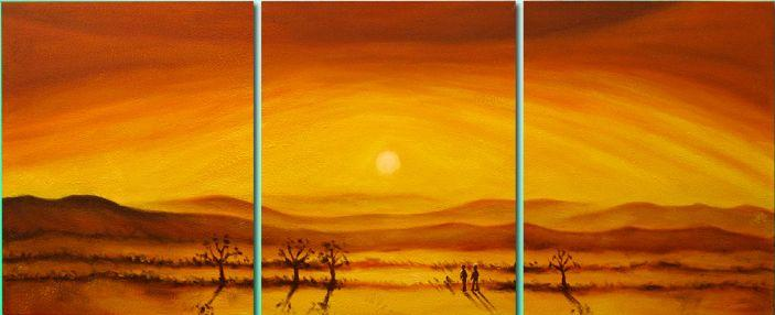 Dafen Oil Painting on canvas sunglow -set104