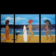 Dafen Oil Painting on canvas seashore -set107