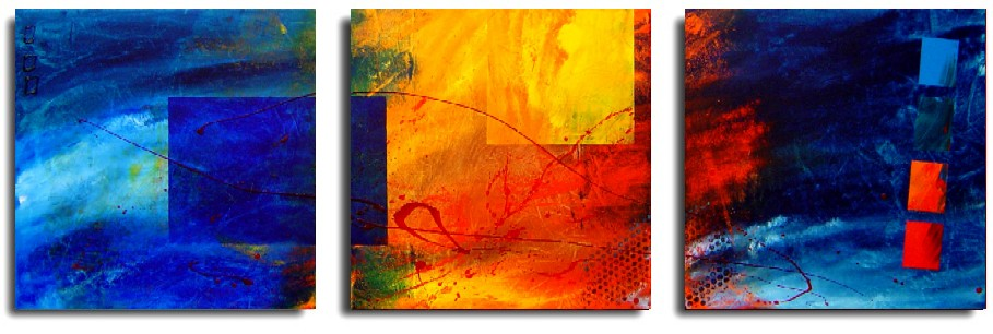 Dafen Oil Painting on canvas abstract -set206