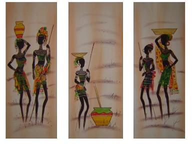 Dafen Oil Painting on canvas Africa girl -set214