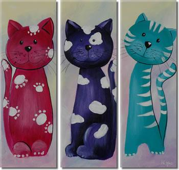 Dafen Oil Painting on canvas cat -set313