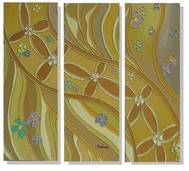 Dafen Oil Painting on canvas abstract -set323