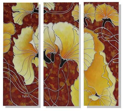 Dafen Oil Painting on canvas flower -set324
