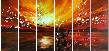 Dafen Oil Painting on canvas flowers -set342