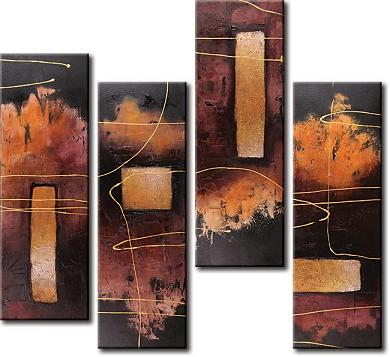 Dafen Oil Painting on canvas abstract -set350