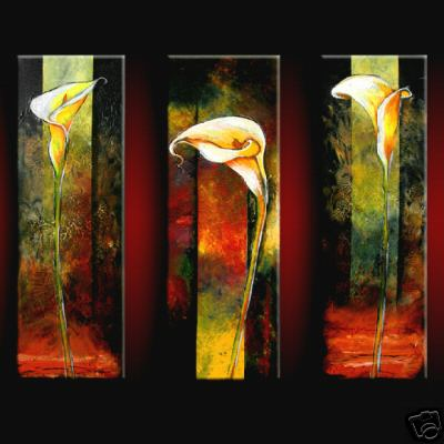 Dafen Oil Painting on canvas flower -set358