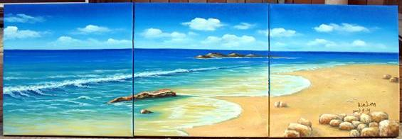 Dafen Oil Painting on canvas seacoast -set443