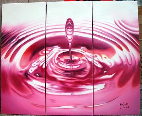 Dafen Oil Painting on canvas red water drop -set445