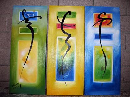 Dafen Oil Painting on canvas abstract -set447