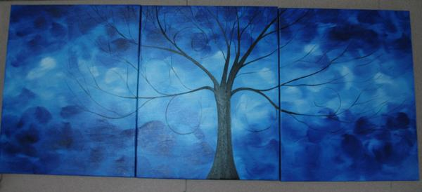 Dafen Oil Painting on canvas tree -set1450