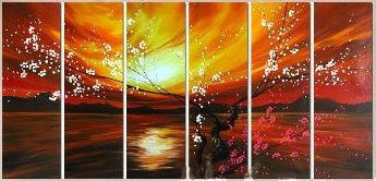 Dafen Oil Painting on canvas flowers -set459